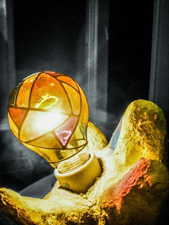 Hand Lamp B&W - Jonathan M. Schwartzman