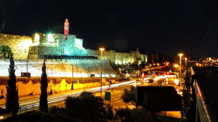 Migdal David At Night: A Time Lapse - Jonathan M. Schwartzman