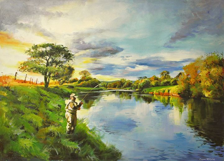 Bend on The River Moy, Co. Mayo - Conor McGuire Fine Artist