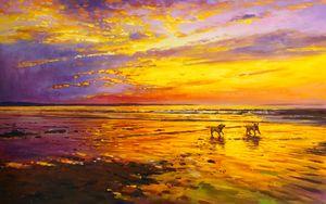 Noah and Harvey On Enniscrone Beach