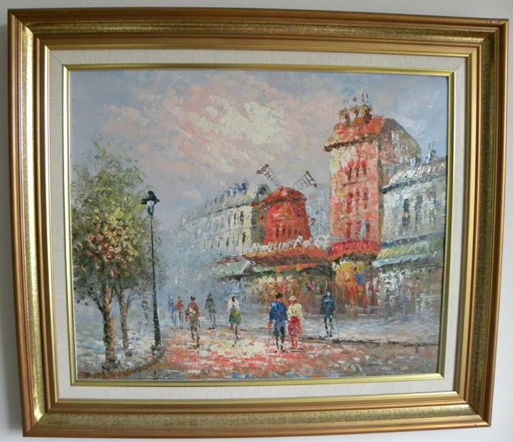 Moulin Rouge Oil by Canvas - Canary