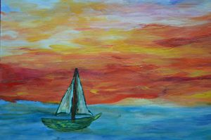 Boat on a canvas