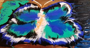 Butterfly acrylic painting