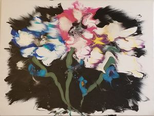Flower bunch acrylic painting