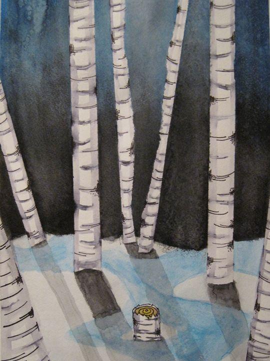 Moonlight upon Birchwood - Within the imagination
