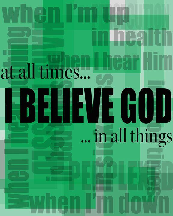 I Belive God - Word Art