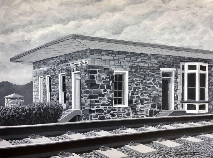 Ringgold Depot black and white - Jody Whittemore