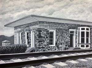 Ringgold Depot black and white