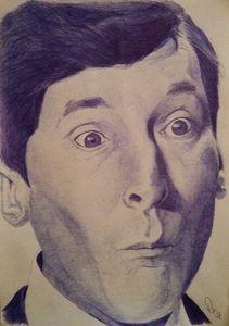 Kenneth Williams Ballpoint Portrait