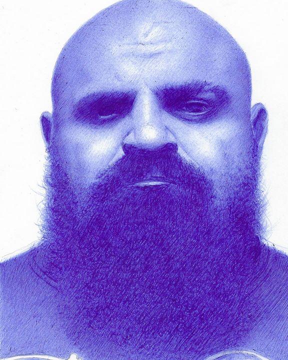 Strongman legend Laurence Shahlaei. - Madcow Art