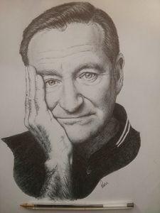 Robin Williams Ballpoint Portrait
