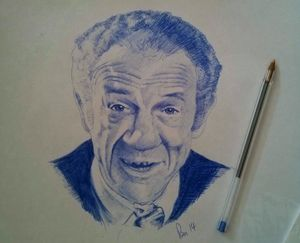 Sid James Ballpoint Portrait