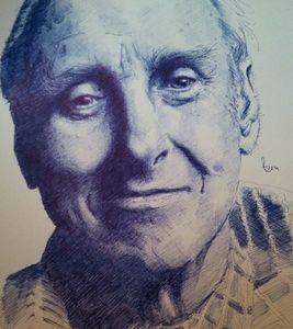 Spike Milligan Ballpoint Portrait