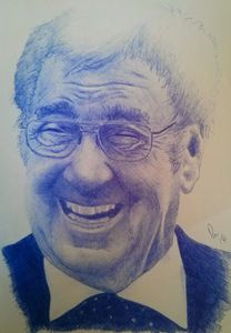 Frank Carson Ballpoint Portrait