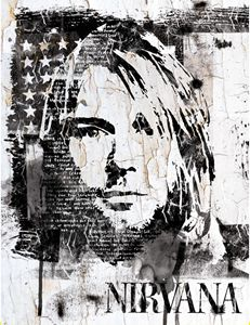 Street Art Portrait of Kurt Cobain