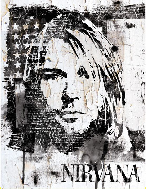 Street Art Portrait of Kurt Cobain - INDO THE ARTIST