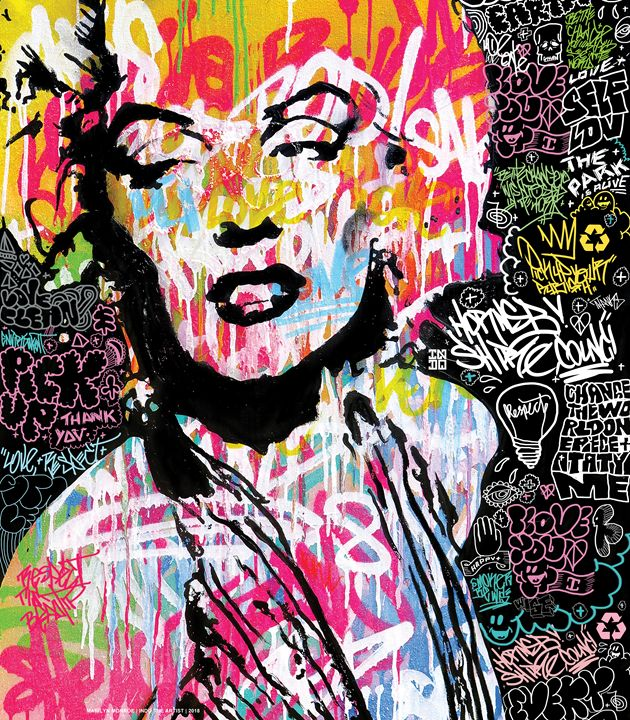 Marilyn Monroe Street Art - INDO THE ARTIST