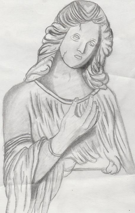 The angel who watches - Dark art/ portraits