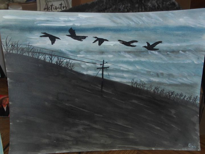 Flying geese across from Fill Zone, - Carl Morgan
