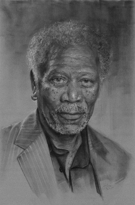 Morgan Freeman portrait - GB Works