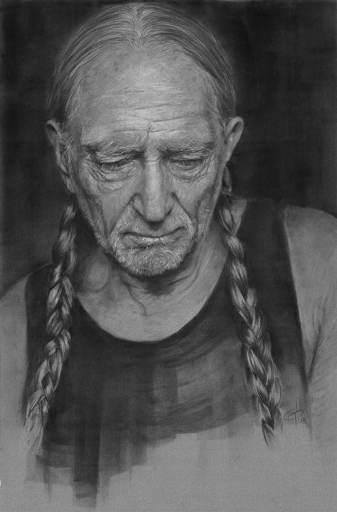 Willie Nelson Portrait - GB Works