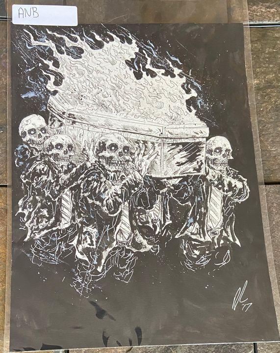 Agoraphobic Nose Bleed design - Dahmer Art