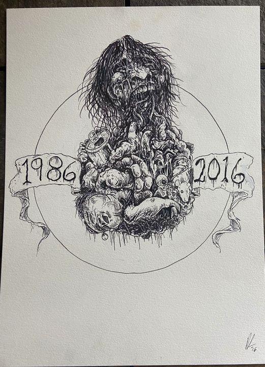 Design for Gore Shriek, original art - Dahmer Art