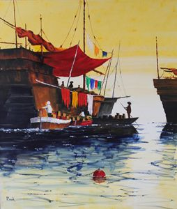Early Morning Trade , Hong Kong. - Kervill's Art Emporium