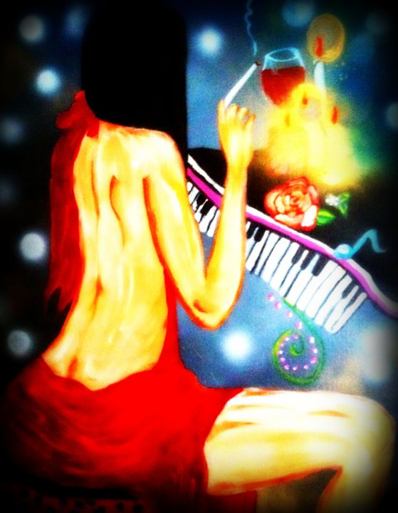 Music in motion, Lady in red - Katharyne