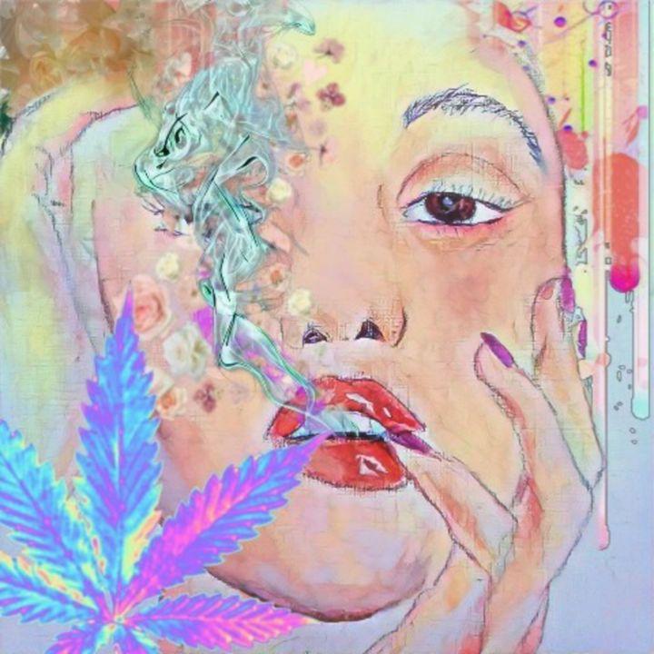 Hazy flower girl - Katharyne