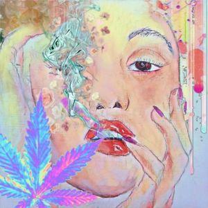 Hazy flower girl