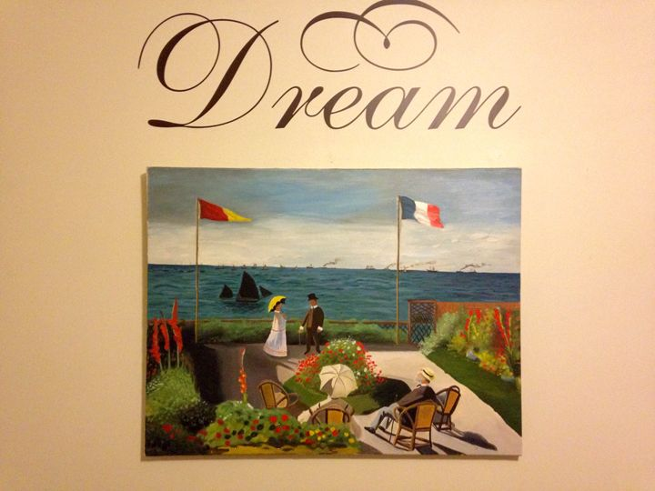 """La terrasse à Sainte-Adresse"" - Jamie Durfee"