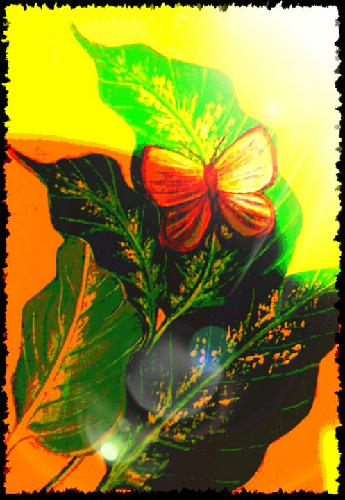 Butterfly on Leaf Four - At The Unicorn