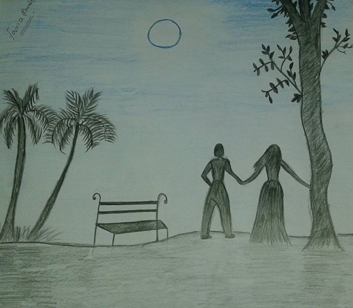 Night scene at the beach - Faria Romale