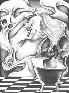 Lady in the bathtub