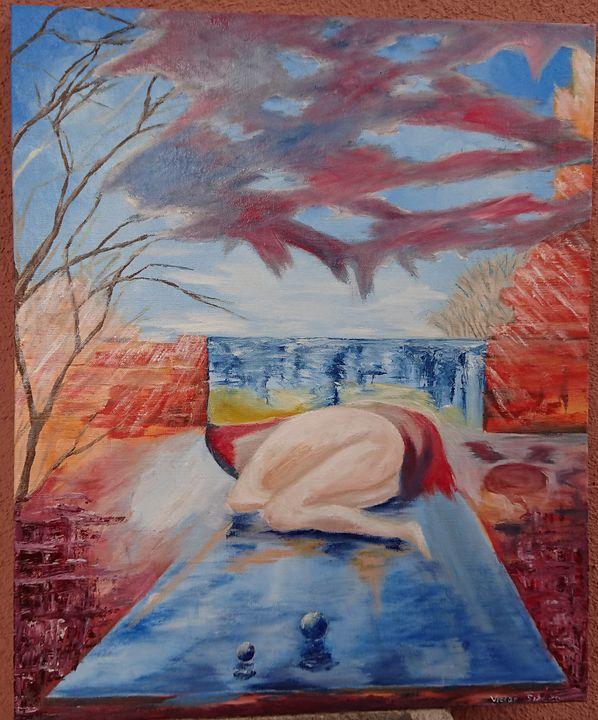 Abstracto - pintura al oleo - Victor Sikoza Art