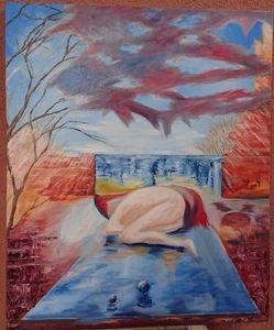Abstracto - pintura al oleo