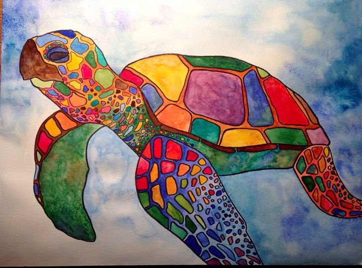 Colorful Sea Turtle - Art Attack