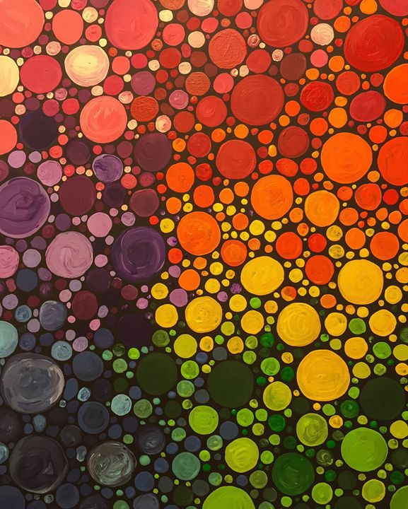 Colorful Dots - Art Attack