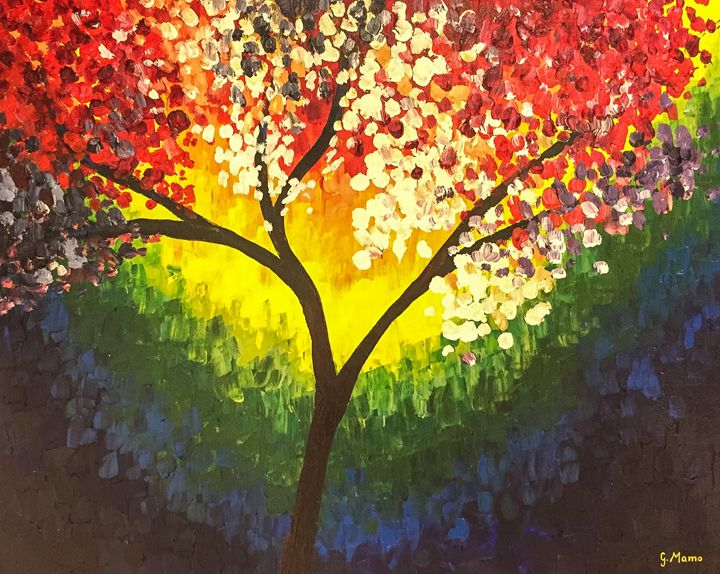 Rainbow Tree - Art Attack