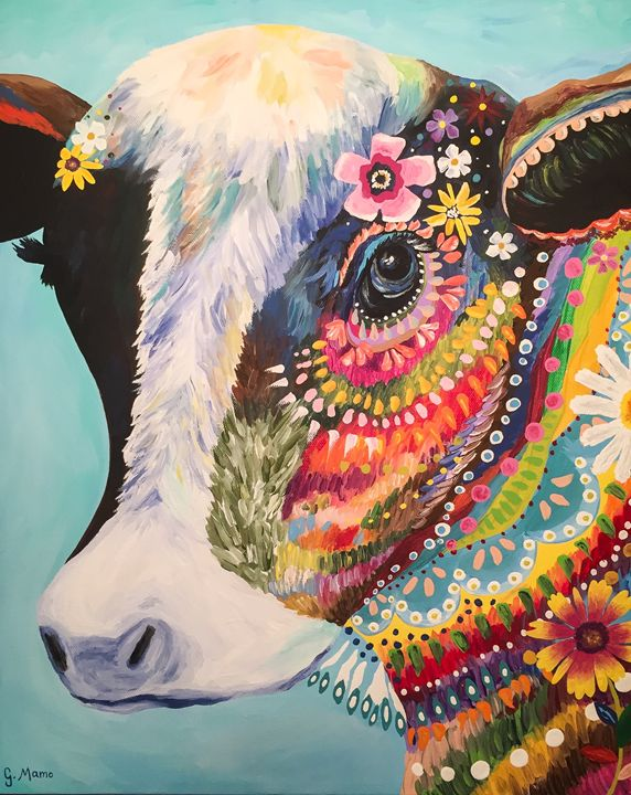 Colorful Cow - Art Attack