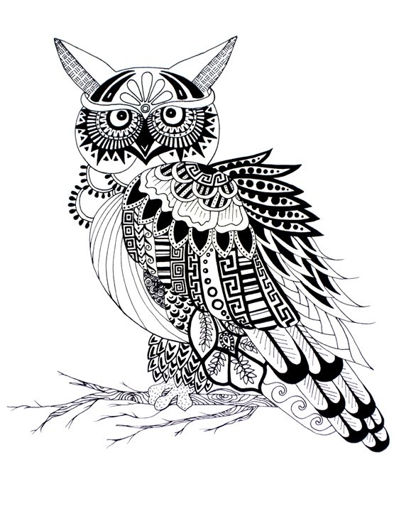 Owl Pattern - Art Attack