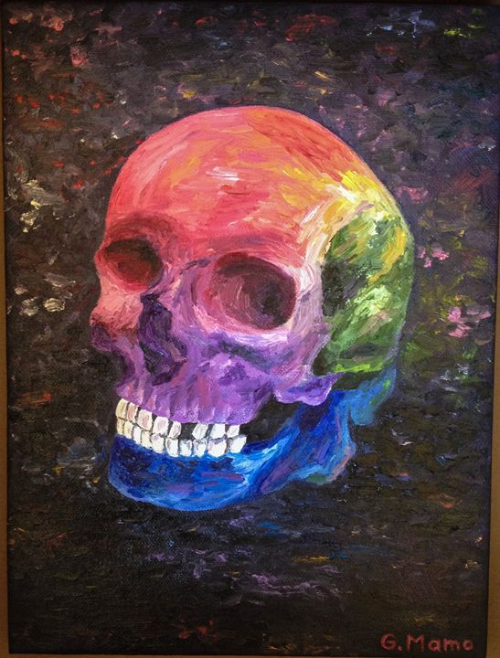 Rainbow Skull - Art Attack