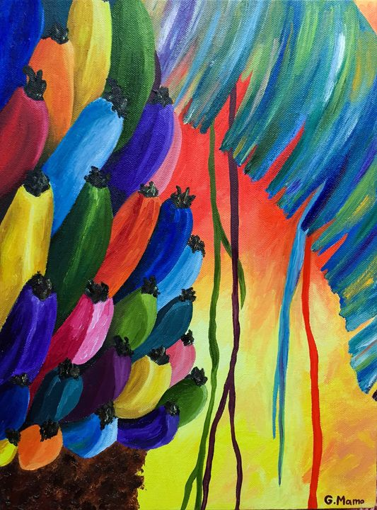 Colorful Banana Tree - Art Attack