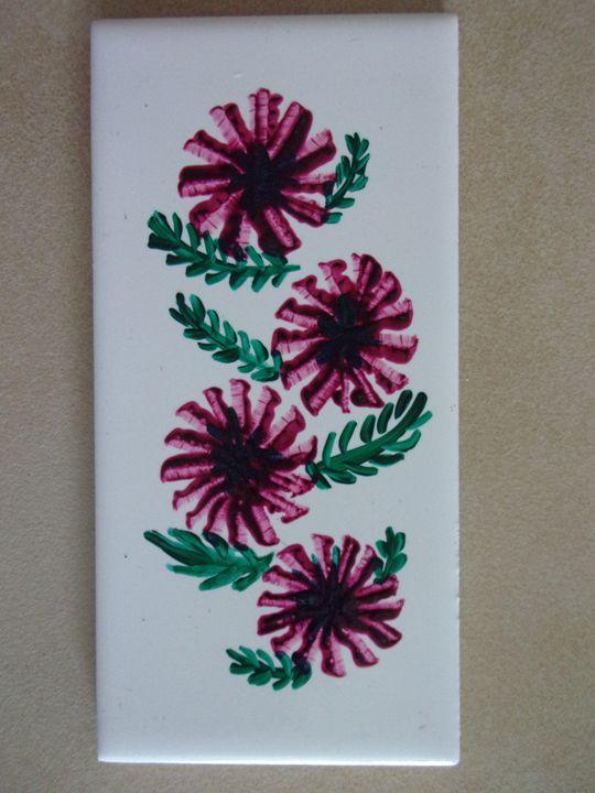 Purple Flowers - Sandie's Art