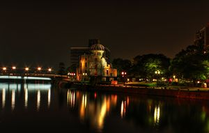 Hiroshima Dome at Night