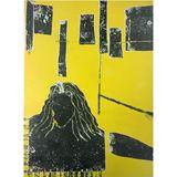 35x50cm Mono Print - 50x70cm Framed
