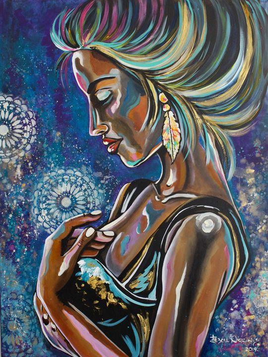 Blue Diva - Art by Rebeca