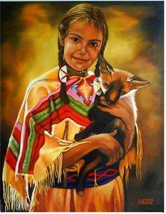 L'indienne et le petit renard