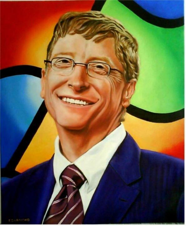 Portrait de Bill Gates - Aurore Alexis